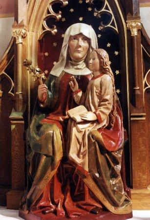 Hl. Anna, Figur aus der  Annakapelle um 1515