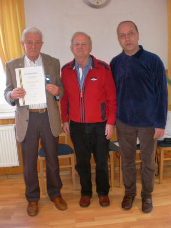 Auszeichnung von Sportfreund Gerhard Jahr