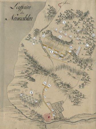 Karte zum Gefecht bei Neukalen 1762