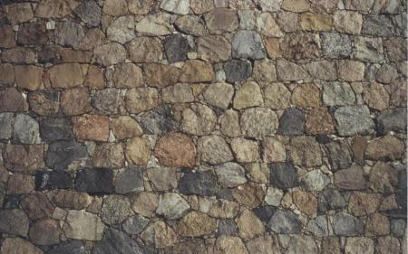Abb. 10 Mauer aus gespaltenem Geschiebe