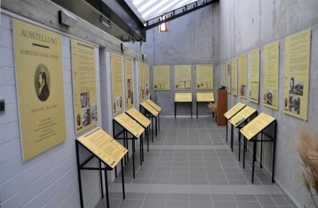 Eingangsbereich der Thaer-Ausstellung in Möglin