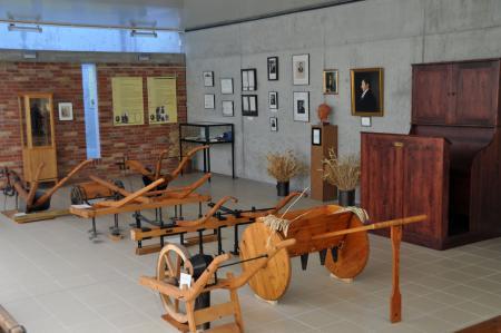 Innenansicht der Thaer-Ausstellung in Möglin