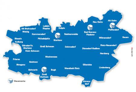 Wasserwerke Karte