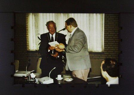 Bgm. George van Riet u. Bgm. Berthold Klingele im Rathaus in Haelen