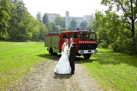 Hochzeit mit Feuerwehr
