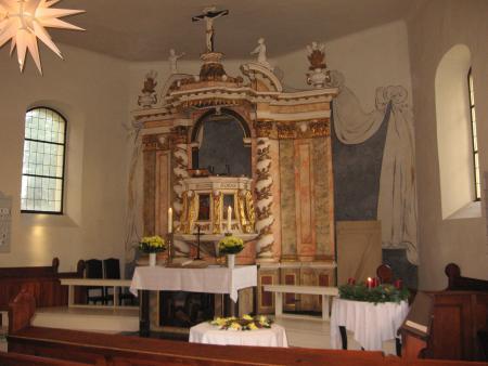 Altar in der Fredersdorfer Kirche