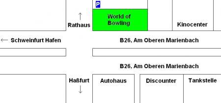 Anfahrtskizze (Schweinfurt)