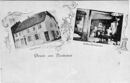 Ansichtskarte Gaststätte Wiechert um 1910