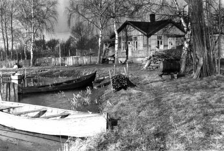 Die ehemalige Badeanstalt an der Peene um 1955
