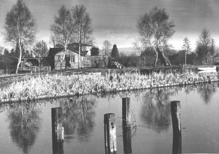 Die alte Badeanstalt um 1955