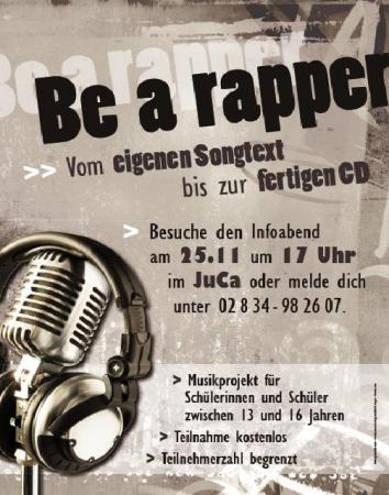be a rapper