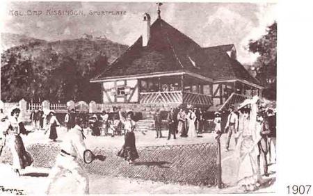 alte Tennisanlage 1907, Postkarte