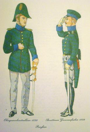 Grenzaufseher in Uniform