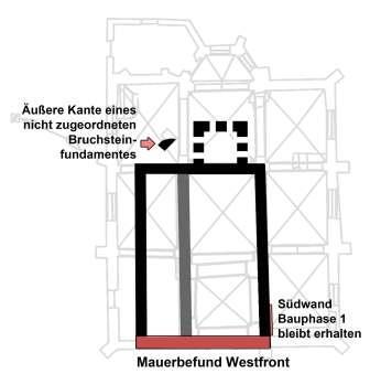 Grundriss Alte Kirche, Schema Bauphase 2 (10./11.Jh)