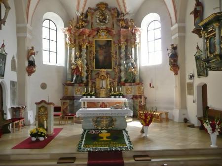 Blumenteppich zum 40-jährigen Priesterjubiläum von Pfarrer Erwin Zach.JPG