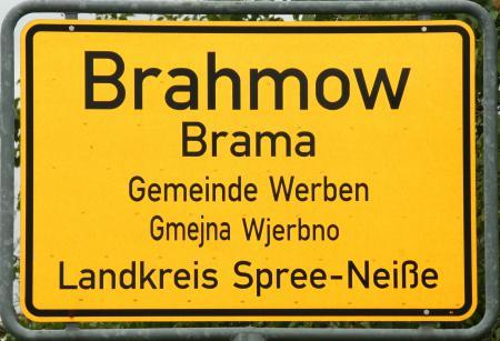 Ortsschild Brahmow