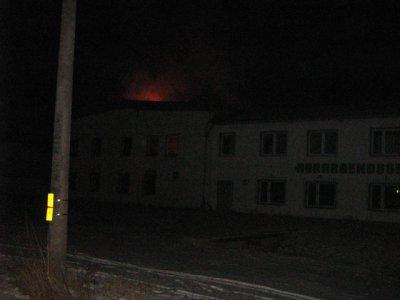 Brand einer Werkstatthalle in Gröningen