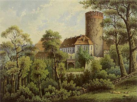 Burg Rabenstein um 1860, Sammlung Alexander Duncker