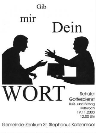 Bußtag 2003 (Plakat)