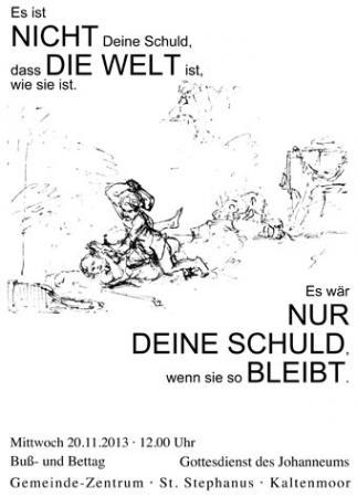 Bußtag 2013 (Plakat)