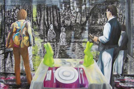 Der nächste Frühling kommt bestimmt, 2011, 100 x150 cm, Linoldruck u. MAlerei auf Leinwand.jpg