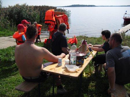Vorbereitung Bootsfahrt