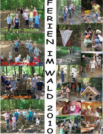 Collage Ferien im Wald 2010