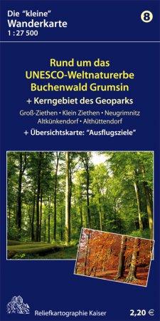 Wanderkarte Buchenwald Grumsin