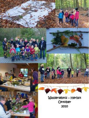 Collage Walderlebenis Herbst 2010