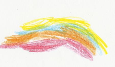Regenbogen gemalt von Tom