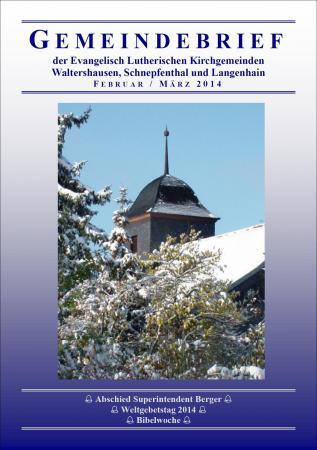 Gemeindebrief Feb/ Mrz 14