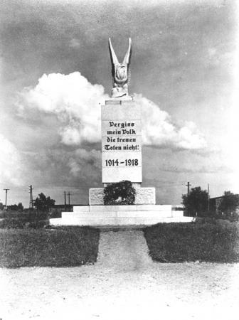 Das Denkmal 1914 - 1918