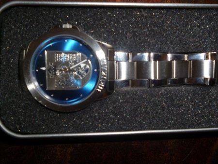 Der Preis Eine Uhr mit Stadtwappen