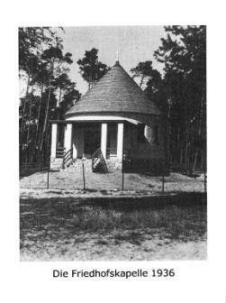 Die Friedhofskapelle 1936