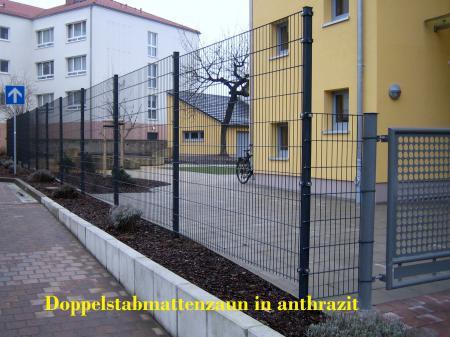 Doppelstabmattenzaunanlage Bautzen