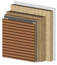 Holzlamellenfassade Konstruktion rainer hanzog holzhaus