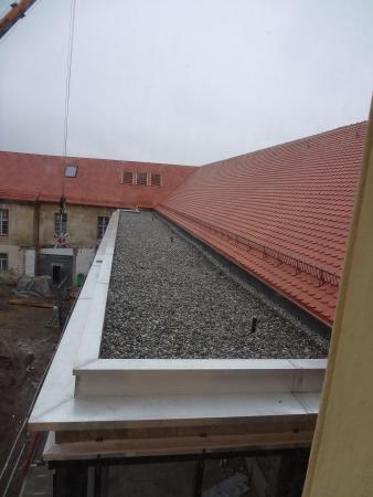 Neues Foyer - Dachabdeckung