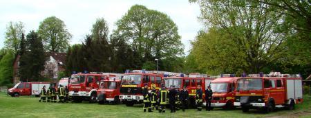2010 Amtswehrfest Eintreffen der Wehren