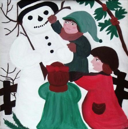 Bild des Heimatvereins für den Rathausweihnachtskalender 2012