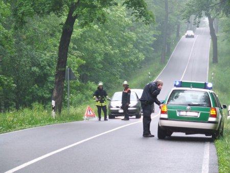 Die Straße wurde während der Bergung gesperrt