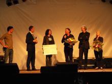 Spendenüberreichung an Ulrike Folkerts