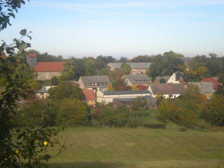 Sicht auf Groß Fredenwalde im Herbst