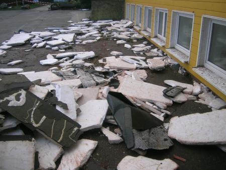 Dachisolierung vor dem Schülerlabor