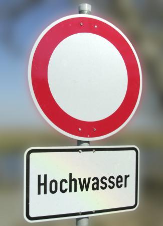 Hochwasser Schild 1