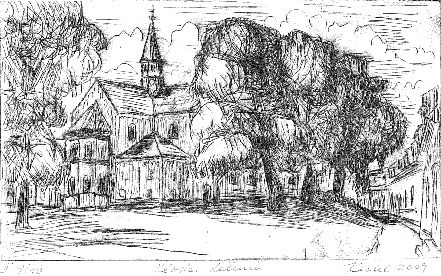 gemaltes Bild von Kloster Lehnin