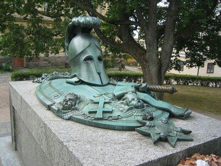Augustin Ehrensvärds Grab auf der Insel Sveaborg bei Helsinki