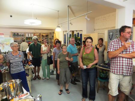 Karin Freibichler begrüßt die Besucher