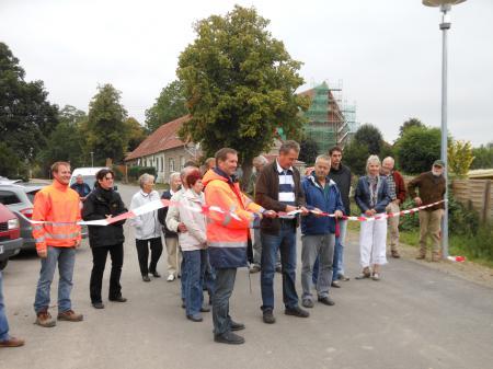 Einweihung der sanierten Dorfstraße in Schorrentin am 7.9.2012