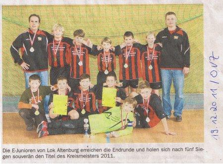 E-Junioren Hallenkreismeister Bild