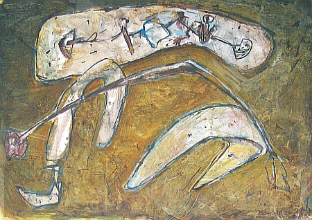 Emile Kirscht, Jour de Pluie, 1992, Acryl